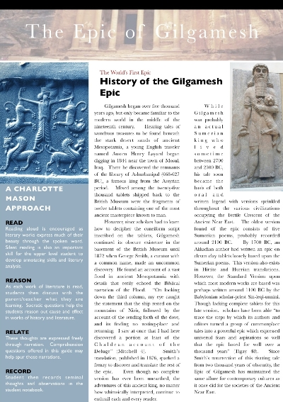 The Epic of Gilgamesh: A Charlotte Mason Approach (Download)